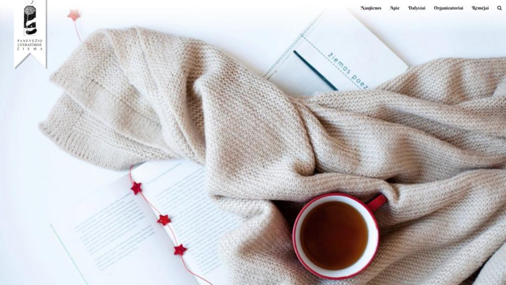 Festivalio Panevėžio literatūrinė žiema svetainės vaizdas